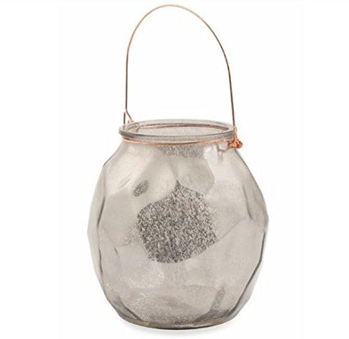(Villa d 'Este Home Tivoli Glass Vase Candle Holder, Glass, Silver, 13x 13x 13cm)
