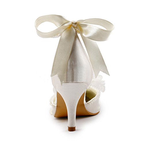 7 Ivory 5cm Chaussures tendance femme mariage Minitoo de Heel fYXqwHf