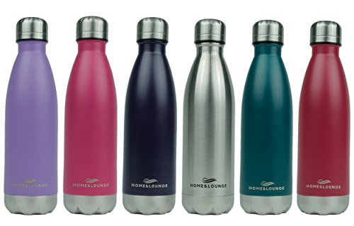 Lounge Bottle - Home & Lounge Water Bottles Stainless Steel - Durable and Dependable with Leak Proof - Made from Eco-Friendly Material (Silver)