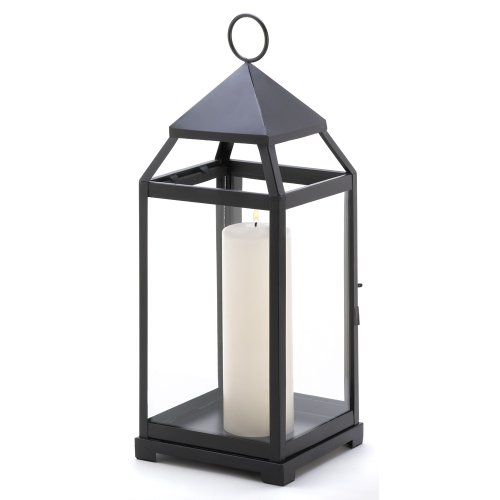 Gifts & Decor Large Contemporary Hanging Metal Candle Holder Lantern -