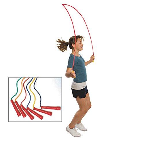 S&S Worldwide Spectrum Jump Ropes (set of 6)-8 FT