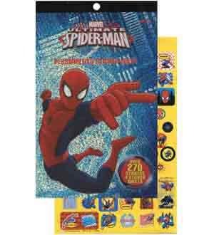 Spiderman Sticker Pad Over 270 Stickers  Per Amazon Combined