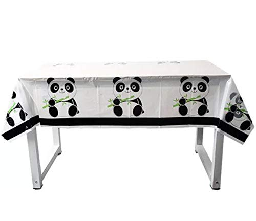 Panda Baby Table Cloth Birthday Decorations - Baby Panda Plastic Tablecloths-70.8 x 42.5 inches,Disposable Table Cover - Birthday Party Supplies for Kids and Baby Shower