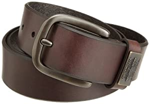 Levi's Men's 100% Leather Belt with Prong Buckle, Brown, 42