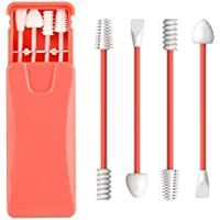Upgraded Reusable Cotton Swabs 4 Pcs, Uramoto Silicone Ear Swabs Rough Friction Q-Tip for Ears Cleaning, Love Shape Q…