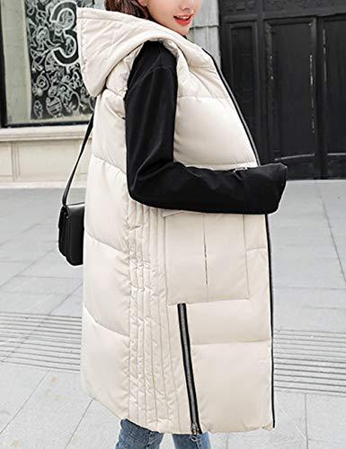 Inverno Lunga Gilet Zhhlaixing Ultraleggeri Beige Giacche Outdoor Maniche Bodywarmer Giacca Per Autunno Waistcoat Vest Ladies Donna Senza Piumino t8dqrwd