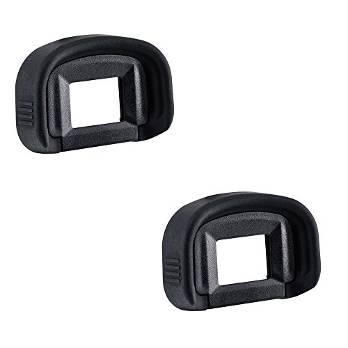 2 Pack JJC Eyecup Eyepiece Eye Cup Viewfinder for Canon EOS 5D Mark IV 5D Mark III 5DS R 5DS 7D 7D Mark II 1Dx Mark II 1Ds Mark III 1D Mark IV 1D Mark III Camera,Replaces Canon EG Eyepiece (Canon 5d Eyecup)