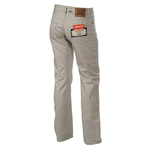 Levis Herren Jeans, Herrenjeans 551 Original Fit, Straight Leg - LightGrey 551.87.47