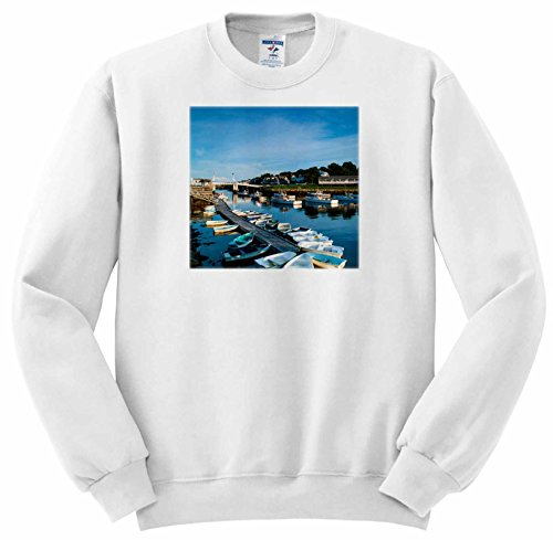 Danita Delimont - Maine - Maine, Ogunquit, Perkins Cove, boat harbor - Sweatshirts - Adult SweatShirt 2XL - Row Perkins