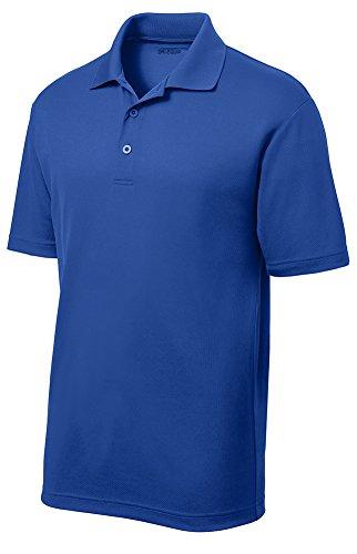 DRIEQUIP Moisture Wicking Mens Short Sleeve Polo - Polo Free