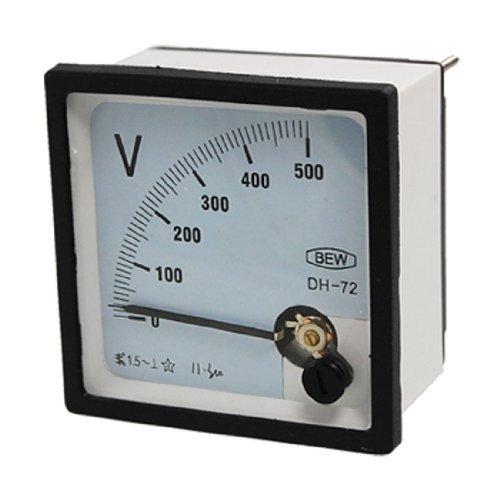 Voltm/ètre /à vis Mont AC 0-500V place Panneau de tension compteur analogique