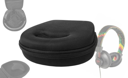 DURAGADGET Headphone Case (Black) - Suitable for House of Marley TTR|Rise Up Over-Ear|Stir It Up|Redemption Song|Riddim|Exodus|Liberate|Buffalo Soldier|Revolution|Rebel|Positive Vibration|Harambe