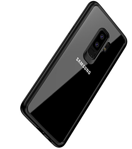 Galaxy S9 Plus Case , Vinve Slim Anti-Scratch Shockproof Cover Clear Hard Back Panel + TPU Bumper Protective Case for Samsung Galaxy s9 Plus (Black)