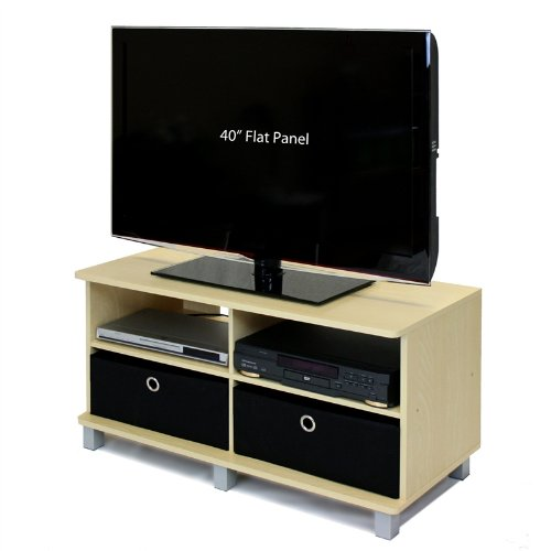 - Swag Pads Steam Beech Entertainment Center - Holds Flat Screen TV's up to 42