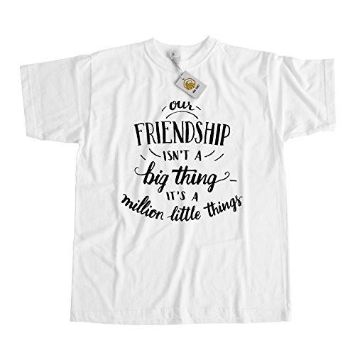 Friendship shirt - Our Friendship isn't a big thing, it's a million little  ...