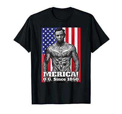 Abe Lincoln Merica OG Since 1860 Funny 4th Of July T Shirt