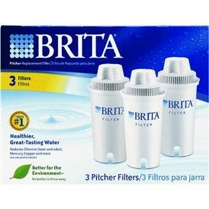 Brita Pitcher Replacement Filter (3 Pitcher Filters)