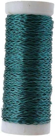 FloristryWarehouse Bullion Floristry Wire Reel 25G Turquoise