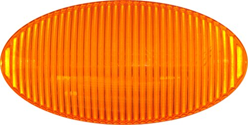Replacement Oval Lens - Optronics APL5ABP RV Amber Oval Porch/Utility Light Replacement Lens