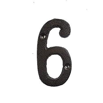 n/úmeros de Letras de Metal decoraci/ón de Hierro Fundido Muestra de la casa Placa de la Puerta DIY Caf/é N/úmero de la casa Loopunk N/úmero del buz/ón de Correo de la casa
