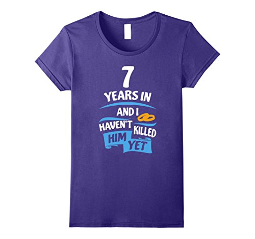 Womens 7 Years Anniversary Gift Idea for Her - 7th Wedding Small Purple