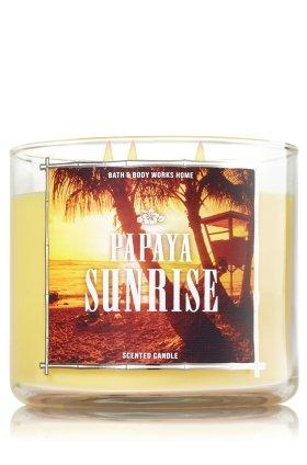 (Bath and Body Works Papaya Sunrise 3 Wick Candle 14.5 oz)