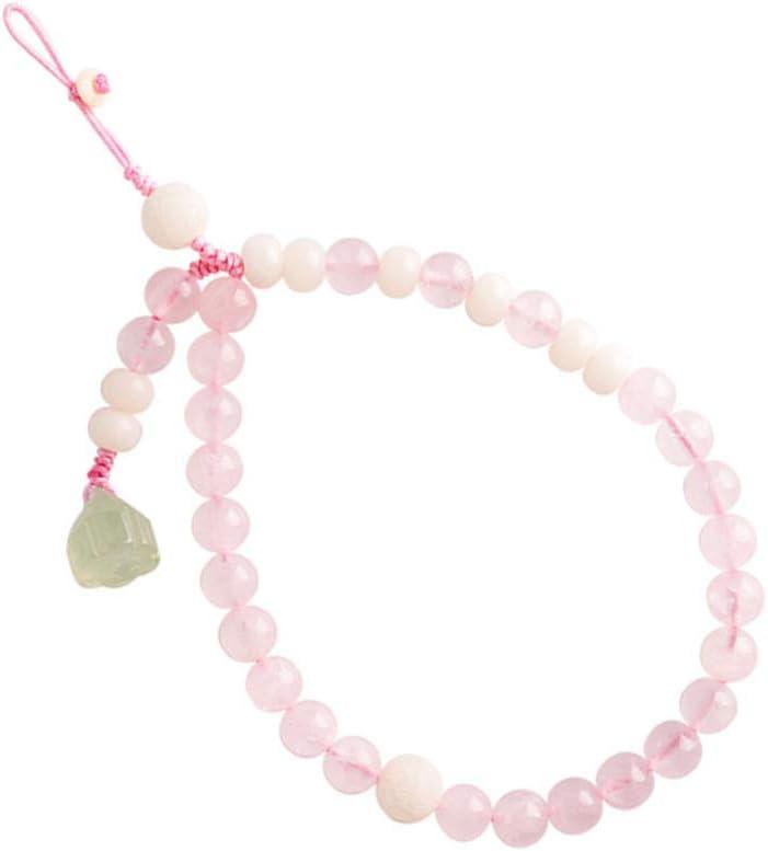 Hemobllo Cell Phone Lanyard Strap Pink Crystal Bead Wrist Lanyard Anti- Lost Lanyard Chinese Wristlet Car Key Purse Hanging Decor