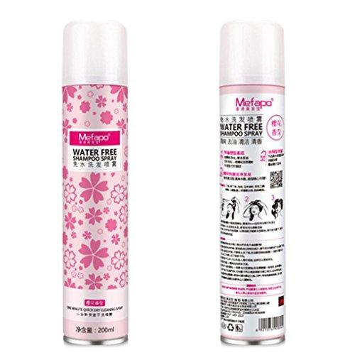 [LandFox 200ml Hair Free Wash Spray Rose Water Natural Spray Paraben Free All Skin (Cherry A)] (Water Blossom Ivy Type)