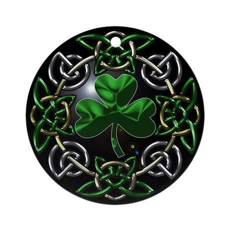 (TiuKiu St. Patrick's Day Celtic Knot Ornament (Round) - 2.875