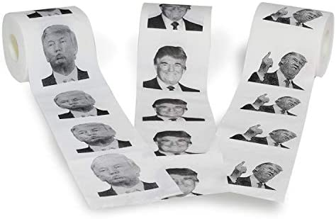 Novelty Place [3 Rolls] Donald Trump Toilet Paper 3 Different Pictures - 250 Sheets in step with Roll - Smile & Kiss, Funny Political Gag Gift