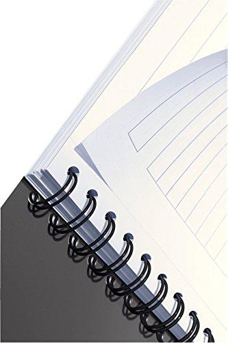 Office Rosso Leitz Blocco per appunti A5 con copertina in PP A righe Carta 90 gr//mq 44990025 Rilegatura a spirale 90 fogli