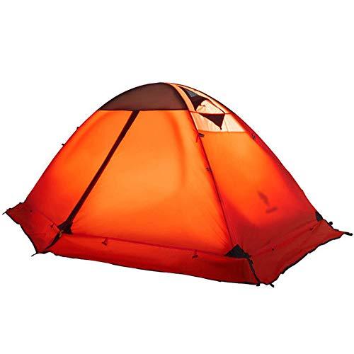 状純粋な突然屋外キャンプテント、ダブルダブルアルミポール防風防水 (色 : B)