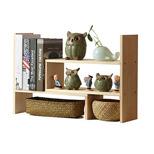 Cabinet Cd Storage Pine (Jcnfa-Shelves Creative Desktop Rack Combination Storage Adjustable Telescopic Countertop Bookcase Document Display Stand, Solid Wood)