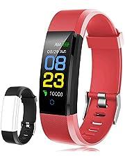F-FISH Fitness Tracker Waterdicht, Activity Tracker Horloge met hartritmemonitor, slimme band met arteriële monitor, calorieënboer, eigen monitor, podómetro para niños, mujeres y hombres