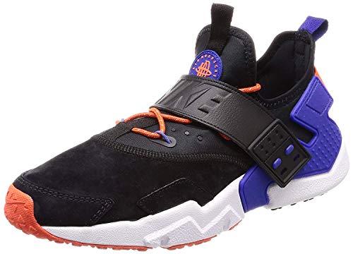 Nike Air Huarache Drift Men's Premium Shoes Black/Rush Violet/Rush Orange ah7335-002 (11.5 D(M) - 002 Ram