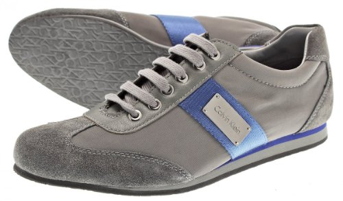 Baskets Mode Homme Modèle Calvin Klein New Gary Soft 010635 Colonel Nylon Gris