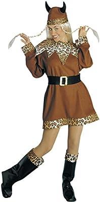 Vikingo Disfraz Mujer Vikingo Disfraz medieval barbarin para mujer ...