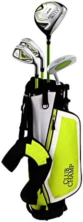 """Club Champ Junior DTP (Designed to Play) Golf Set for 46""""-52"""" Height, Right Hand, Gre"""