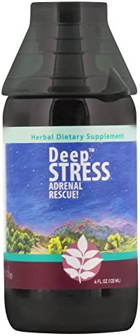 WishGarden Herbs - Deep Stress, Organic Herbal Stress Relief, Combination of Ten Soothing Herbs Support Normalized Mood and Energy 4 Ounce Jigger