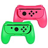Cheap Fintie Grip for Nintendo Switch Joy-Con, [Ergonomic Design] Wear-Resistant Comfort Game Controller Handle Kit for Nintendo Switch Joy Con (2-Pack), Pink Green