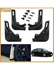AOSK for Tesla Model Y Mud Flaps Splash Guards(Set of Four) Tesla Model Y no Need to Drill Holes 2020 2021