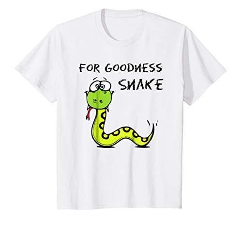 Kids For Goodness Snake Kids Funny Reptile T-Shirt Boys Girls]()