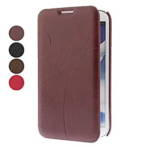 Elegant Line Pattern Full Body Case with Stand for Samsung Galaxy Note N7100 (Assorted Colors) --- COLOR:Rose