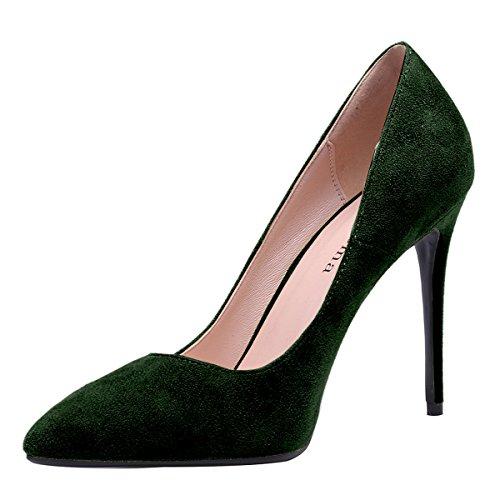 Stiletto De Toe Femme Talon C Zaproma Pompes Haut Pointu Chaussures Vert Mariage Womens qzxYYEt