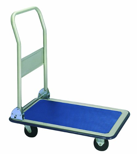 (Wesco 272239 Economy Series Steel Platform Truck with Folding Handle, 400-lb. Load Capacity, 32-1/2