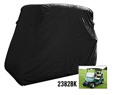 2 Passenger Golf Golf Cart Cover Fits Ez Go, Club Car, Yamaha, Eagle, Black