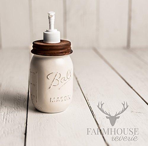 Antique White Rustic Mason Jar Bathroom Set | White Bathroom Storage Set | Farmhouse  Bathroom Decor ...