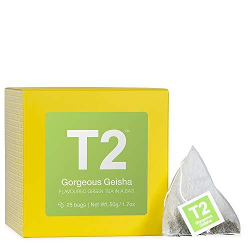 (T2 Tea Gorgeous Geisha Green Tea, 25 Tea Bags, 50g)