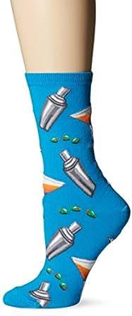 Hot Sox Martini Shakers Sock, Turquoise, 9-11