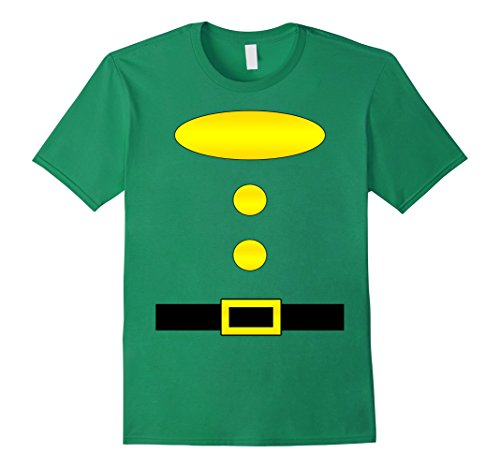 Mens Dwarf Halloween Group Costume Idea T-Shirt with name plaque Large Kelly (Green Costumes Ideas)